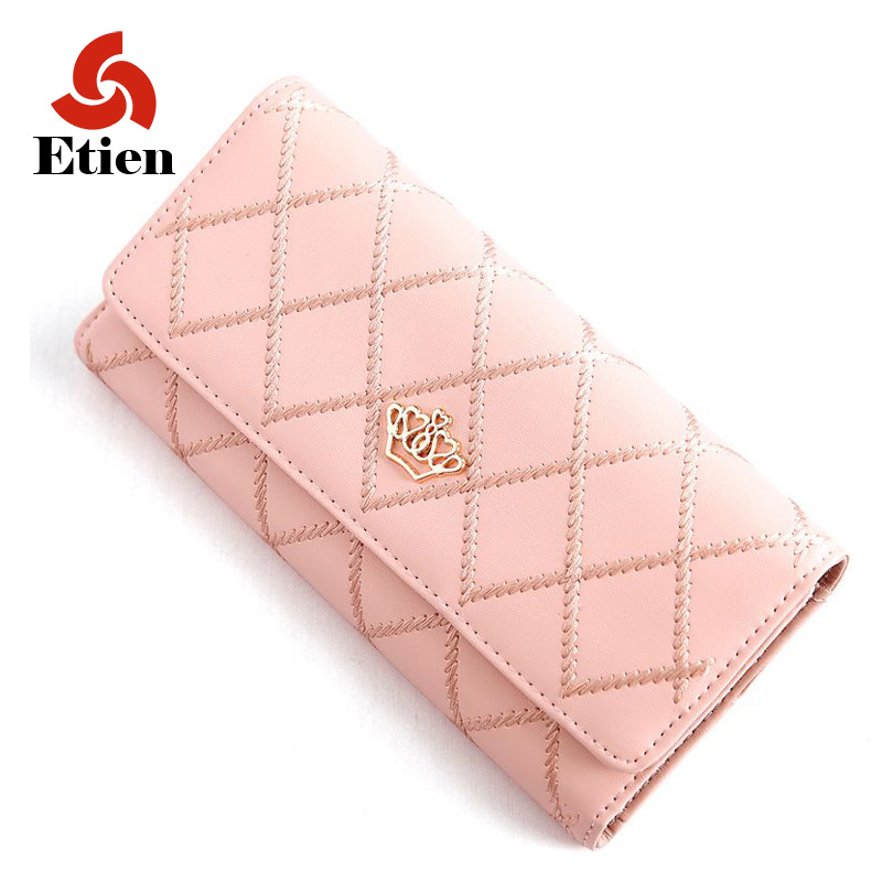 Womens purse Crown standard luxury brand money clip dollar price cartera womens purse for coins clutch designer wallets famous<br><br>Aliexpress