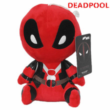 2017 New X-men Blocks Deadpool 20cm Plush doll Collectible Wade Winston Wilson Toy(China)