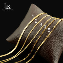 Hot Promotion! Wholesale Light Gold Color Necklace Chain Fashion Jewelry Snake Chain Italy Quality Fine Chain No Change Color