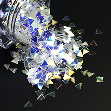 2017 NEW 1 Bottle Holographic Nail Glitter Triangle Shape 3D Nail Art Decoration Sequins Tips Laser DIY Nail Beauty Tips BESZ02
