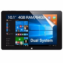 Original CUBE i15 iwork10 Flagship 10.1 inch Intel Cherry Trail Z8350 Quad 4GB 64GB Windows 10 Android 5.1 NetBook Tablet PC(China)