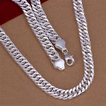 New listing Mens 10MM full sideways 925 Silver Necklace Fashion Jewelry Men dress wild New Year(China)