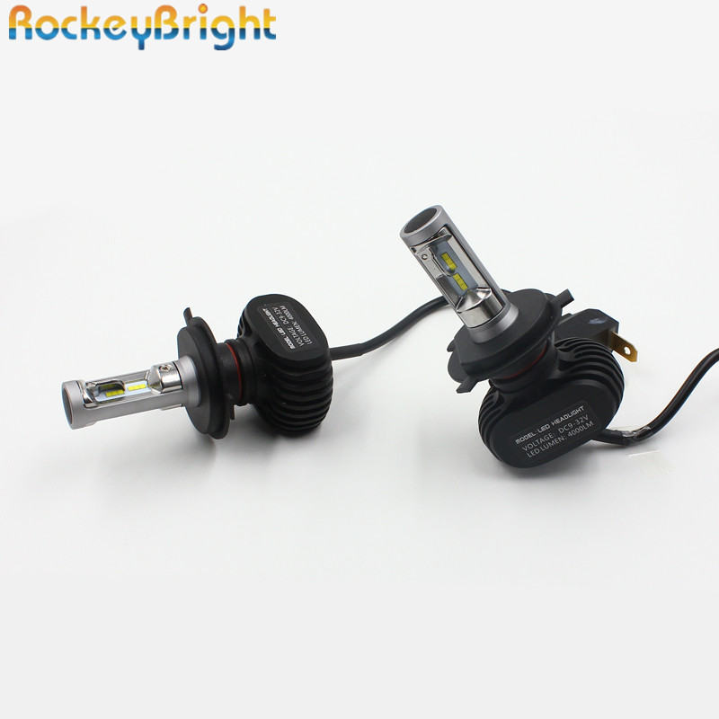 Rockeybright 2sets N1 H4 Car LED Headlight Bulb 6500K 8000LM Hi-Lo beam Car Headlamp 12v 50W led head light lamps conversion kit<br>