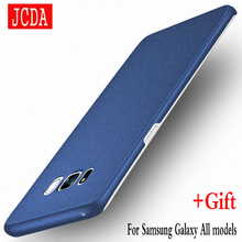 JCDA Brand For Samsung Galaxy S8 s6 s7 edge plus + S4 S5 note8 NOTE 8 3 4 5 C5 C7 phone case Silicone cover Hard Frosted PC Back