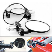 "1 Pair Motorcycle Round 7/8"" Handle Bar End Foldable motorbike Rear View Side Mirrors For Suzuki for Kawasaki for Honda(China)"