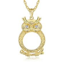 New Arrival! Cute Look Owl shape Pendant Women Reading 2x Magnifying Glass Trendy High Quality Necklace Reading Glass Pendant(China)