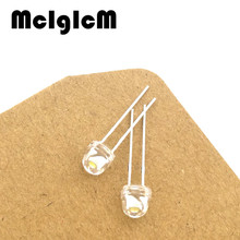 A0036 Free shipping 100pcs White light-emitting diodes White turn White 5mm Straw hat light
