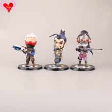 Love Thank You  OW Over game watch Overwatches Soldier 76 Hanzo Widowmaker cute figure toy Collectibles Model gift doll
