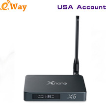 IPTV America TV box RTD1295 X5 USB3.0 STAT3.0 Support Recoding Channel 4K Wifi Tv Box With 1 Year USA English IP TV Channels APK(China)