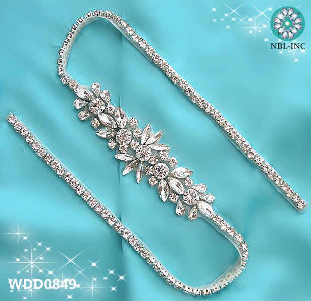 Detail Feedback Questions about 1PC 92cm wedding belt rhinestone applique  DIY iron on beaded silver crystal applique for wedding dresses sash belt  WDD0849 ... 82b9d24681de