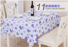 PVC Waterproof and Oilproof Phalaenopsis Flower Tablecloths for Restaurant Home Outdoor Table Cloth Bar Cloth Fast Ship