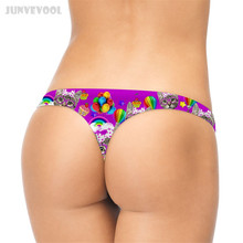Buy Intimo Sexy Thongs G-string T-back 3D Animal Mini Shorts Women Panties Cute Bow Glasses Cat Printed Briefs Pant Underwear M/L/XL