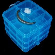 Clear Plastic Craft Beads Jewellery Storage Organiser Compartment Tool Box Case