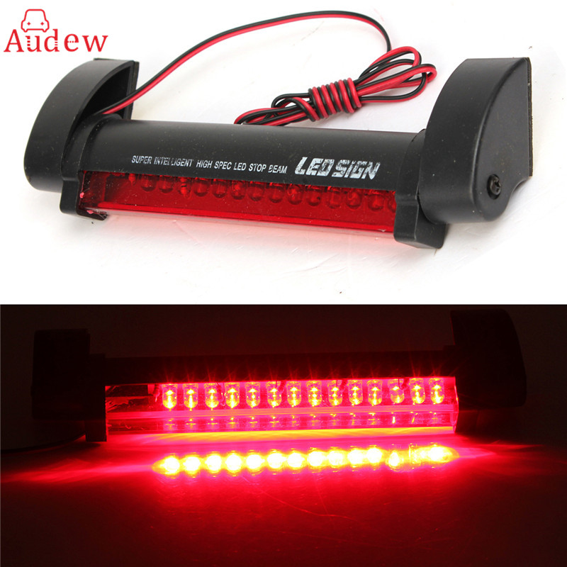 Universal 12V 14 LED High Mount Stop Rear Tail Warning Light Lamp Red Car Auto Third 3RD Brake Light Parking Red