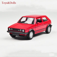 WELLY 1:36 Classic Volkswagen Golf GTI Alloy Diecast Retro Model Car Toys W/Sound Light Kids Toys brinquedos Gifts