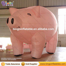 Customized decorative 2 meters tall giant inflatable pig promotional cartoon type blow up pig replicas for display toys(China)