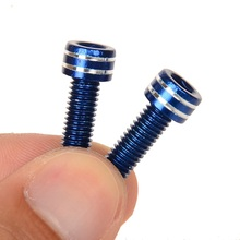 WARDER 2 PCS MTB Bike Bicycle Bottle Holder Screw T6 Aluminum Alloy M5*15 mm Water Bottle Rack Screws Bicycle accessories