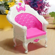LeadingStar Beautiful Pink Single Chair Set For Barbies Dolls Bedroom Furniture Great Christmas Gift Hot Selling