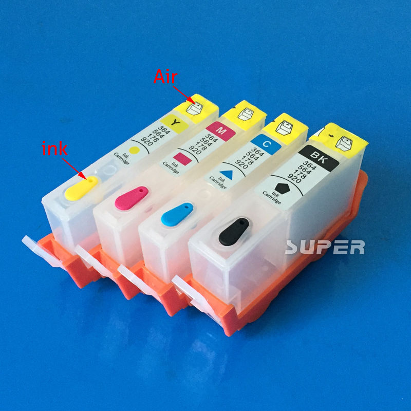 For HP670 670 3525 4615 4625 5525 6525 refillable ink cartridge with ARC chips<br><br>Aliexpress