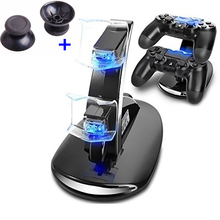 DC5V Portable Dual 2 x 400mAh USB LED Handle Fast Charging Dock Station Rapid Flash Stand Charger for PS4 Controller PS4 Slim