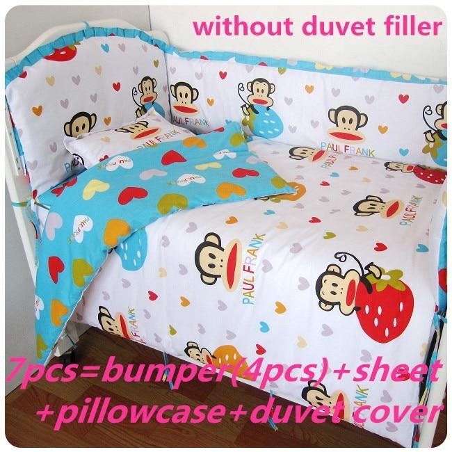 Promotion! 6/7PCS cot bedding set 100% cotton baby bedding set unpick and wash crib quilt cover ,120*60/120*70cm<br><br>Aliexpress