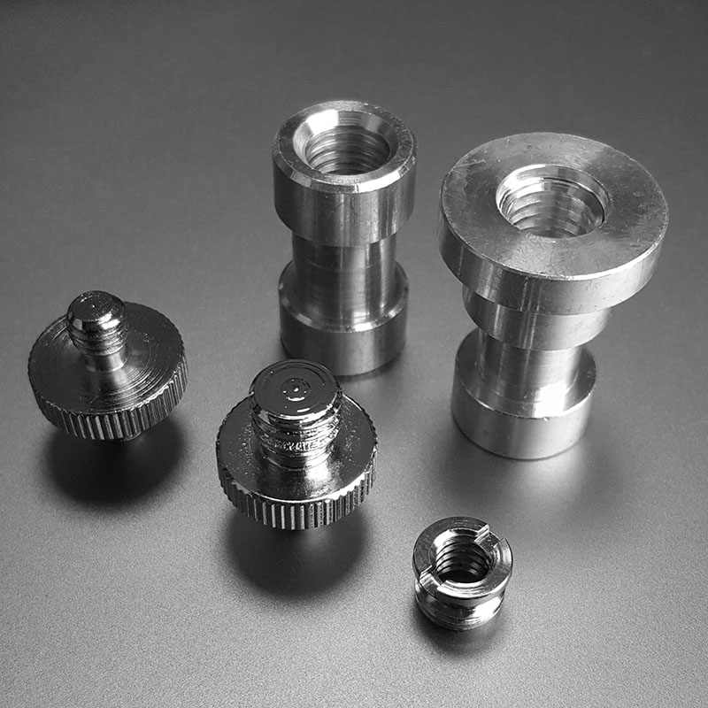 Durable Silver 1//4 to 3//8 Stainless Steel Screw for Tripod and Tripod Heads