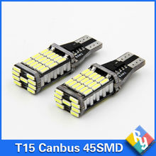 2pcs canbus led W16W LED CANBUS T15 45led 4014smd Chip LED High Power Light Bulbs Compatible with T10 W5W LED Bulbs Car styling(China)