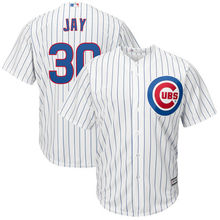 MLB Men's Chicago Cubs Jon Jay #30 Baseball Home White Cool Base Replica Player Jersey(China)