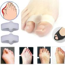 1Pairs 2 Holes Pain Relief Bunion Hallux Valgus Foot Toe Gel Separators Stretchers Straightener Feet Care Health Care Product(China)