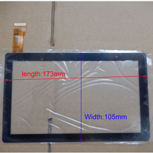 10pcs/lot  7Inch Capacitive Touch Screen PANEL Digitizer Glass Replacement for Allwinner A13 A23 A33 Q88 Q8 Tablet PC