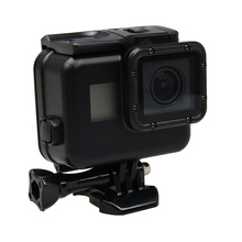 Black Waterproof Housing Case Touch Screen Back Door For Gopro Hero 5 Underwater Box For Go Pro Hero5 Camera Accessories(China)