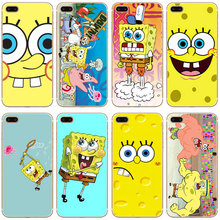 G277 Sponge Bob Transparent Hard Thin Case Cover For Apple iPhone 4 4S 5 5S SE 5C 6 6S 7 8 X Plus