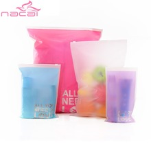 Transparent waterproof Clothes socks/underwear bra shoes storage bag travel Wash protect cosmetics plastic storage bag SS1