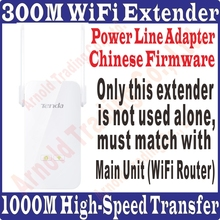 [ Only Single Tenda PA3 ] 1000Mbps Giabit Wireless Power line Adapter Extender WIFI hotspot 300Mbps Ethernet Network Adaptor(China)
