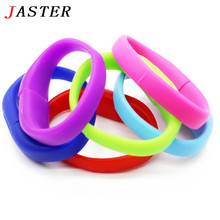 JASTER lucky silicone bracelet pendrive 8GB 16GB 32GB Usb Flash Drive Pendriver birthday gift memory stick U disk 9 colors