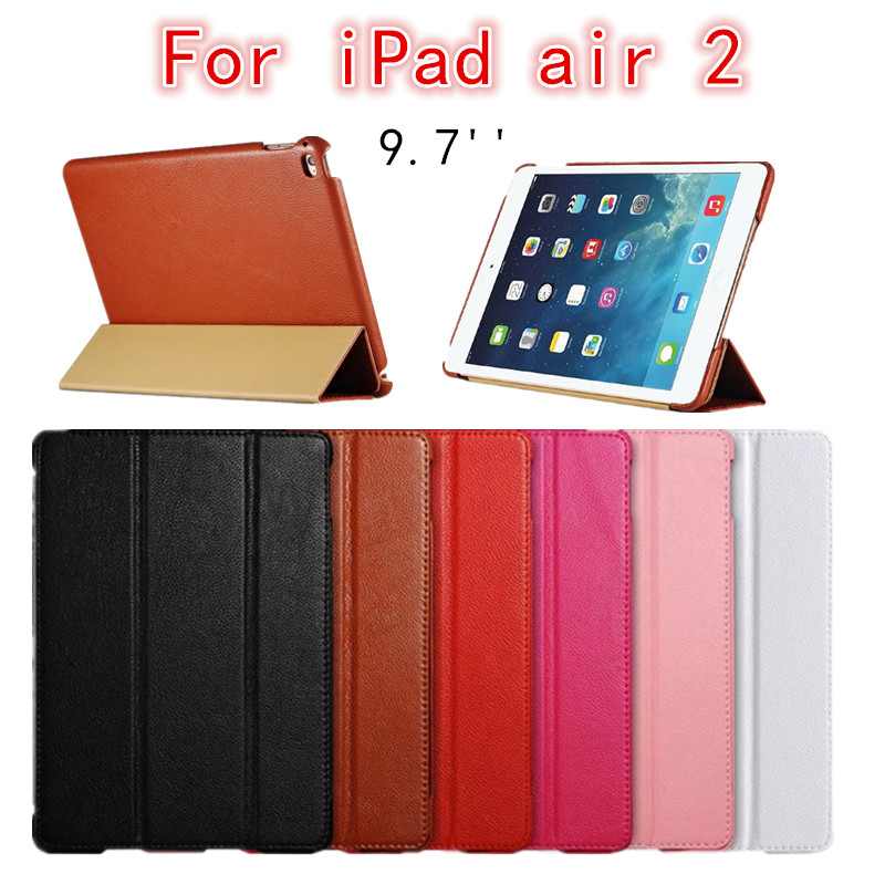 For ipad 6 air 2 Luxury Litchi style 2016 untra-slim PU Leather Flip Cover case for ipad air 2 6 9.7 inch protective stand shell<br><br>Aliexpress