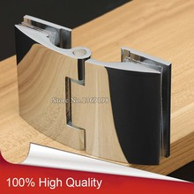 2PCS Brass Frameless Bathroom Shower Door Hinges Glass to Glass Hinges Chrome(China)