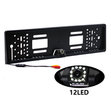The 170 European car license plate frame car rear view camera 12 LED universal CCD infrared LED night vision 2017 new