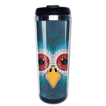 The Face of the Owl coffee mug pretty dad tazas stainless steel tumbler caneca tea Cups(China)