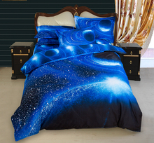 Dreamworld 3d Galaxy Bedding Sets and Stat Sky Bed Linen Queen King Sizes 3D Bedding Set and 4pcs Duvet Cover Sets Bedspread(China)
