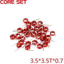 100PCS/Lot 3.5*3.5T*0.7 Inductors FM Coil Inductor Hollow Coil Inductance Copper Wire Remote Control High Quality