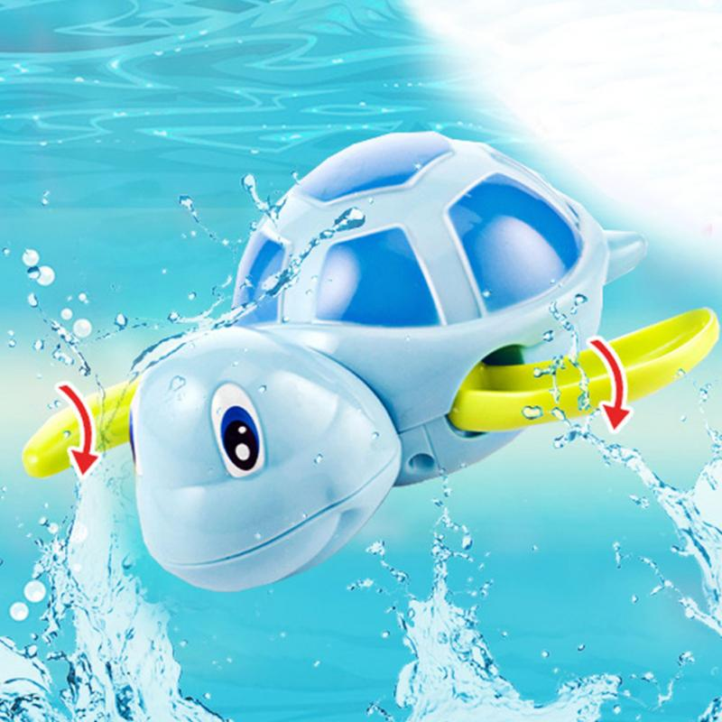 Essential-Random-Color-New-born-babies-swim-turtle-wound-up-chain-small-animal-Baby-Children-bath (3)