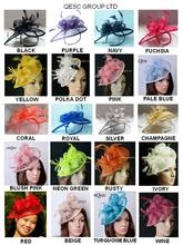 28 colors.EMS FREE SHIPPING.HOT sinamay fascinator in SPECIAL shape w/feathers for Kentucky derby wedding TOP grade workmanship(China)