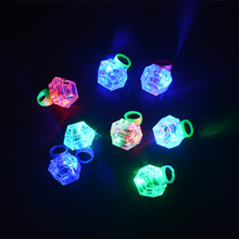 2017 Colorful LED Flashing Finger Rings Glowing In The Dark Kids Toys Gift Halloween Birthday Wedding Glow Party Supplies