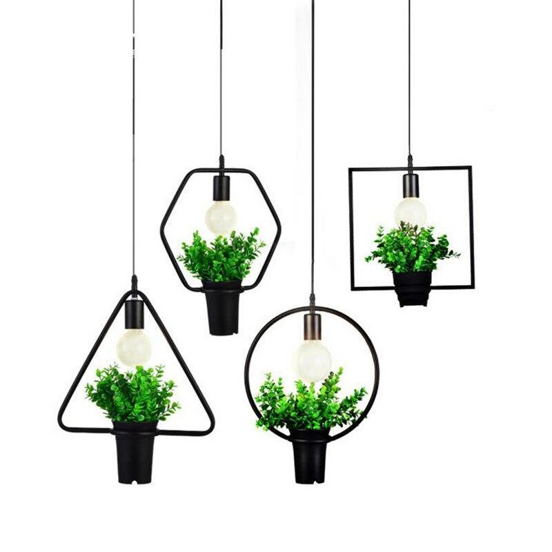 Olighting Modern Pendant Lights Kitchen Restaurants Bar Nordic Decorative Home Fixture Creative Iron Geometric Dining Room Lamps<br>