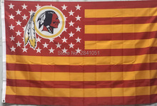Washington Redskins USA Star and Stripes Team American Outdoor Indoor Hockey Football Flag 3X5 Custom USA Any Team Flag