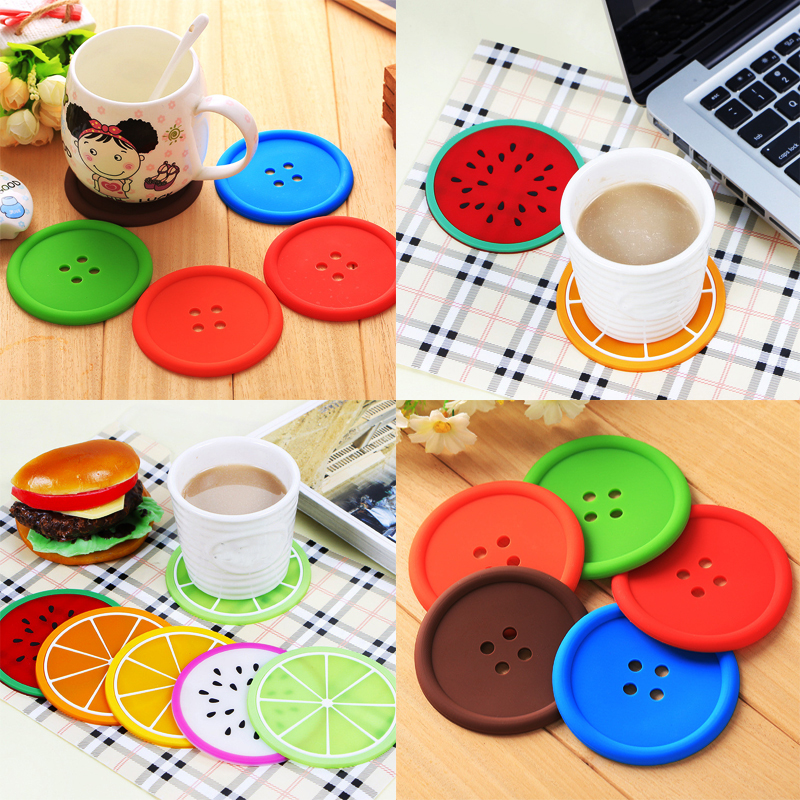 Home, Furniture & DIY Silicone Crown Coaster Anti-slip Heat Insulation Hot Drinking Pad Mat Placemat Bar Coasters