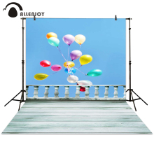 Allenjoy background photography fly balloon fence wood board colorful photocall photographic photo studio(China)