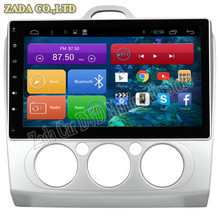 1024*600 10.2inch Quad Core Android 4.4 Car DVD for Ford Focus 2 Manual With Bluetooth 16GB Nand Flash 3G Wifi Mirror Link GPS
