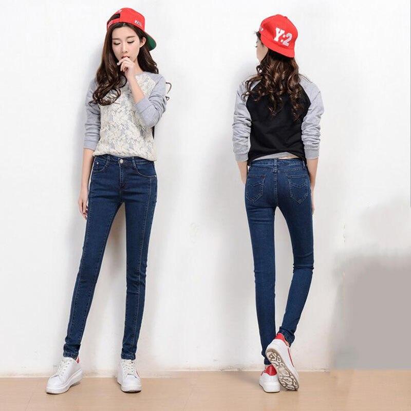 Korean style  women cotton jeans fashion vintage sexy zippers boyfriend pants bleached cowboy denim pencil ladies pants  D26 Одежда и ак�е��уары<br><br><br>Aliexpress